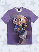Модная детская летняя футболка с принтом JUDY ZOOTOPIA
