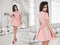 Женское однотонное короткое платье 42-46