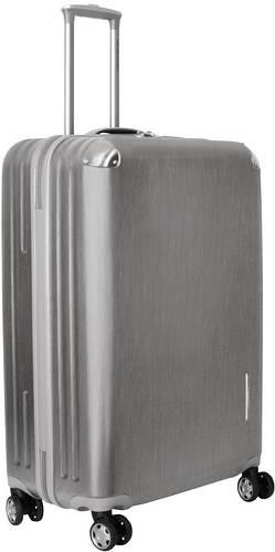 Пластиковый чемодан на 4-х колесах 102 л. Vip Collection Mont Blanc MB.28.silver серебристый