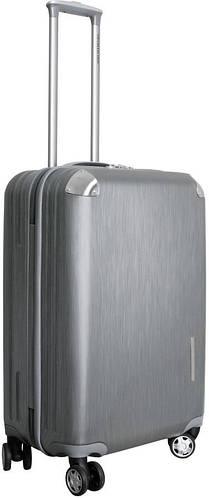 Средний пластиковый чемодан на 4-х колесах 67 л. Vip Collection Mont Blanc MB.24.silver серебристый