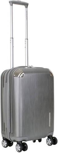 Чемодан малый пластиковый на 4-колесный 41 л. Vip Collection Mont Blanc MB.20.silver серебристый