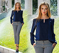 Женская блузка с длинним рукавом норма и батал