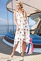 Женский летний шифоновый сарафан с открытой спиной