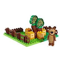 """Конструкторы «BIG» (0057092) пчелиная ферма Медведя """"Маша и Медведь"""", 21 элемент"""