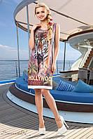 Женское летнее платье с анималистическим принтом