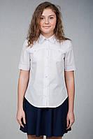 Школьная блуза-рубашка короткий рукав  ТМ Фея
