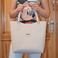 Женская бежевая сумка-мешок модель 2016