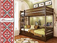 Деревянная детская кровать ДУЭТ ТМ Эстелла двухярусная, бук, 8 цветов