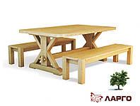 Деревянный стол Ларго ТМ ГРАММА, материал дуб массив