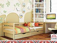 Деревянная кровать НОТА ТМ Эстелла, односпальная, бук, 8 цветов