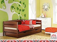 Деревянная кровать НОТА ПЛЮС ТМ Эстелла, односпальная детская, бук, 8 цветов
