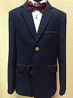 Пиджак синий в  клетку, подростковая одежда  146-170