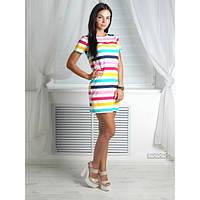 Платье женское цветная полоса , женская одежда