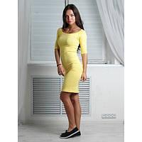 Платье женское Цунами желтое , женская одежда