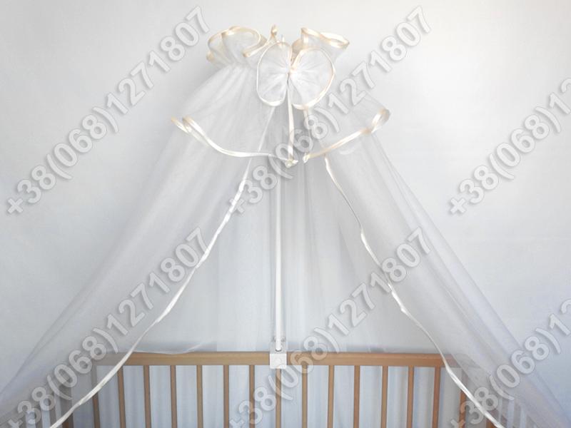Балдахин из фатина на детскую кроватку