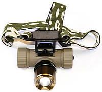 Налобный светодиодный аккумуляторный фонарик