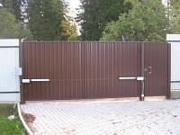 Ворота въездные распашные (профлист, дерево, металл), Киев и область