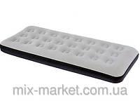 Односпальный надувной флокированный матрас BestWay 67406,серый