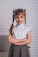 Стильная блузка для девочки белая, фото 1