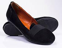 Женские замшевые туфли - балетки