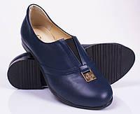 Женские кожаные туфли на низком каблуке, от 36 до 40 р-ра