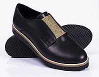 Модные женские туфли, кожа