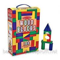 100 деревянных кубиков для детей от 3 лет Melissa & Doug