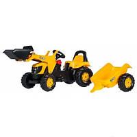Трактор на педалях с прицепом и ковшом KID JCB Rolly Toys 23837
