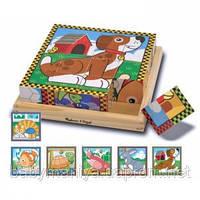 Детские Кубики Домашние животные Melissa & Doug