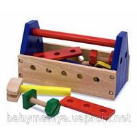 Детский набор инструментов из дерева Melissa & Doug