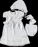 Комплект нарядный для крещения 62 68 74