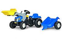 Трактор педальный с прицепом и ковшом New Holland Rolly Toys 23929