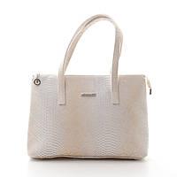 Модная женская сумка из искусственной кожи 718254 бежевая