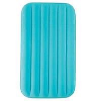 Надувной велюровый матрас с подушкой Intex 66801, голубой