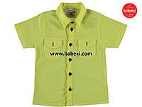 Модная желтая рубашка детская на мальчика 5, 6, 7, 8, 9 лет.Турция!Детская летняя одежда. Футболка, рубашка