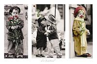 Плакат Дети с розами №1289