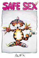 Плакат с приколом Безопасный секс №1567