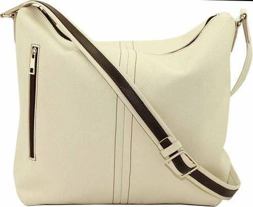 Милая женская сумочка на плечо из натуральной кожи VATTO Wk53 Fl11, светло-бежевый