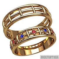 10 - Парные обручальные кольца серебряные золотые