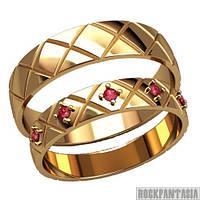 11 - Парные обручальные кольца серебряные золотые
