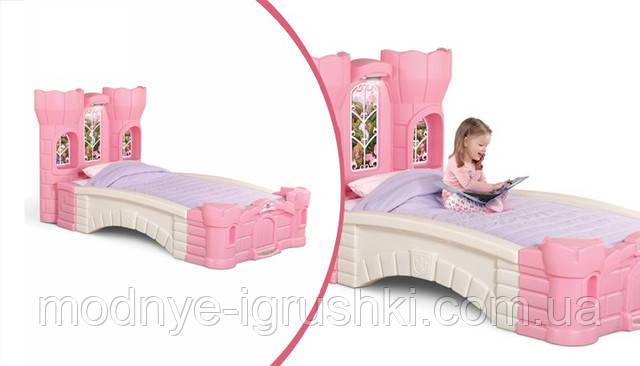 Кровать замок с горкой