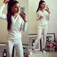 Модная женская стильная кофта с длинным рукавом