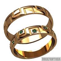 21 - Парные кольца из серебра серебряные золотые