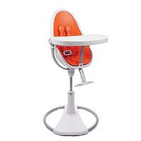 """Cтульчик для кормления «Bloom» """"Fresco"""" цвет """"Chrome White"""", вкладыши """"Harvest Orange"""" (E10516-HOL-1"""