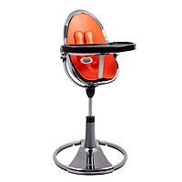 "Cтульчик для кормления «Bloom» ""Fresco"" цвет ""Chrome Mercury"", вкладыши ""Harvest Orange"" (E10516-HOL"