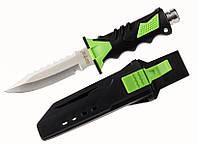 Нож подводного охотника 24032, длина 25 см, сталь 440С, толщина лезвия 2,5 мм, пластиковый чехол