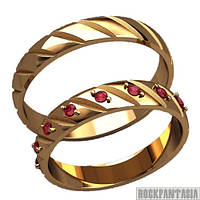 27 - Мужское женское кольцо серебряное золотое