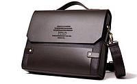Каркасная мужская сумка-портфель Polo, формат А4. Сумка для документов. КС85