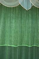 Гардина сетка зелёная