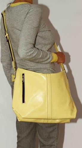 Неординарная женская сумочка на плечо из натуральной кожи VATTO Wk53 N8, желтый